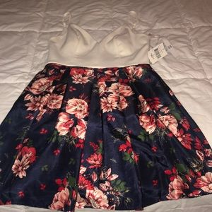 Size small floral dress with white top